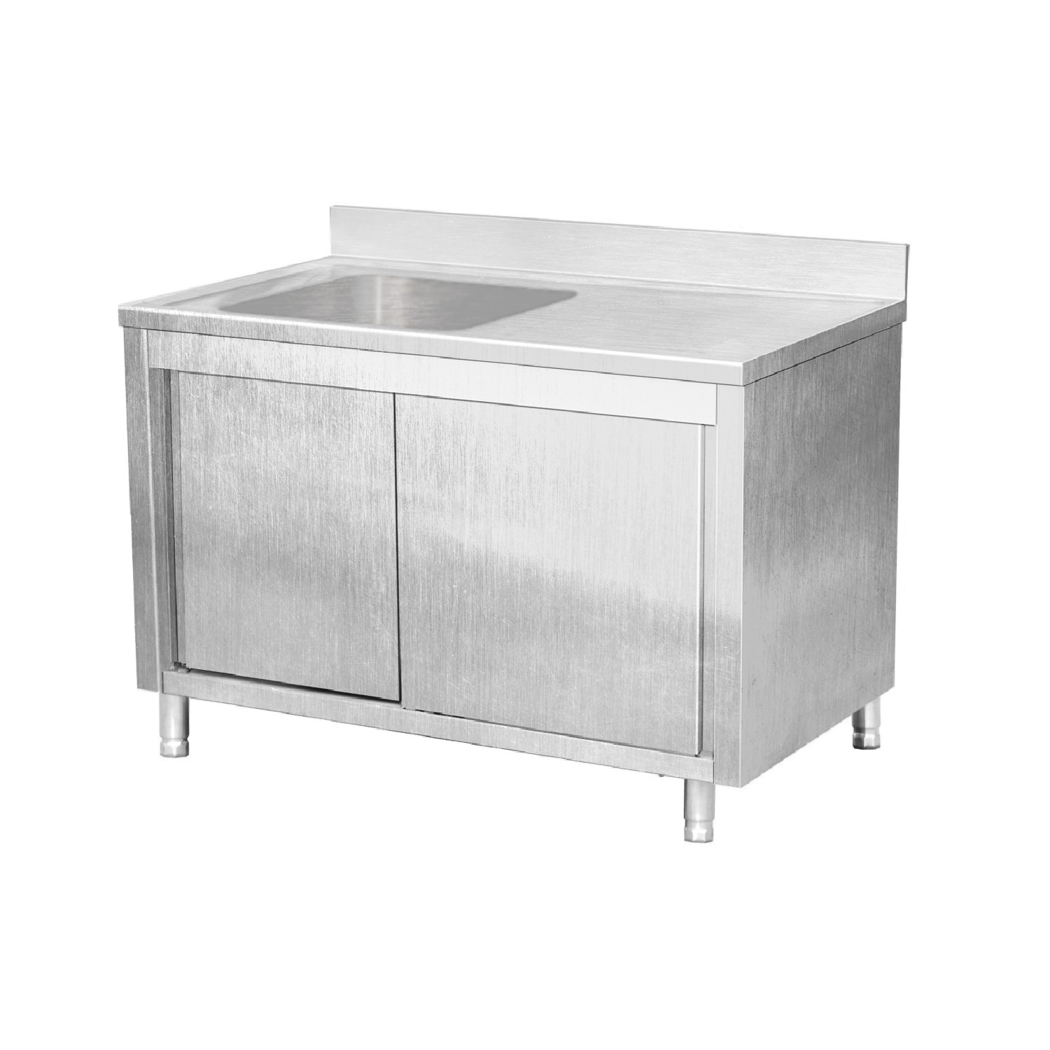 Commercial Stainless Steel Kitchen Cabinets: EQ Commercial Stainless Steel Work Table Cabinet Sliding