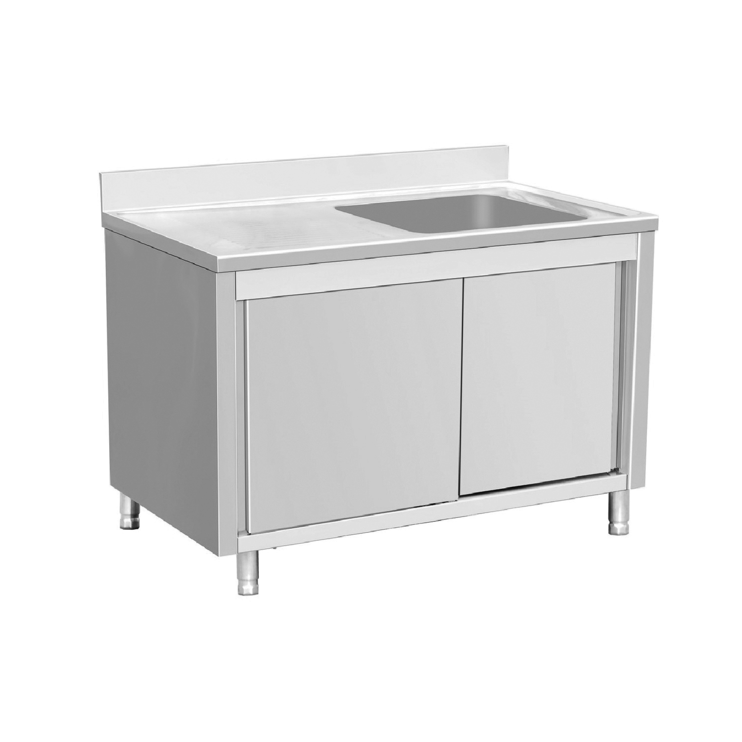 EQ Commercial Stainless Steel Work Table Cabinet Sliding  : SSR146BL1 1 from ebay.com size 1500 x 1500 jpeg 287kB