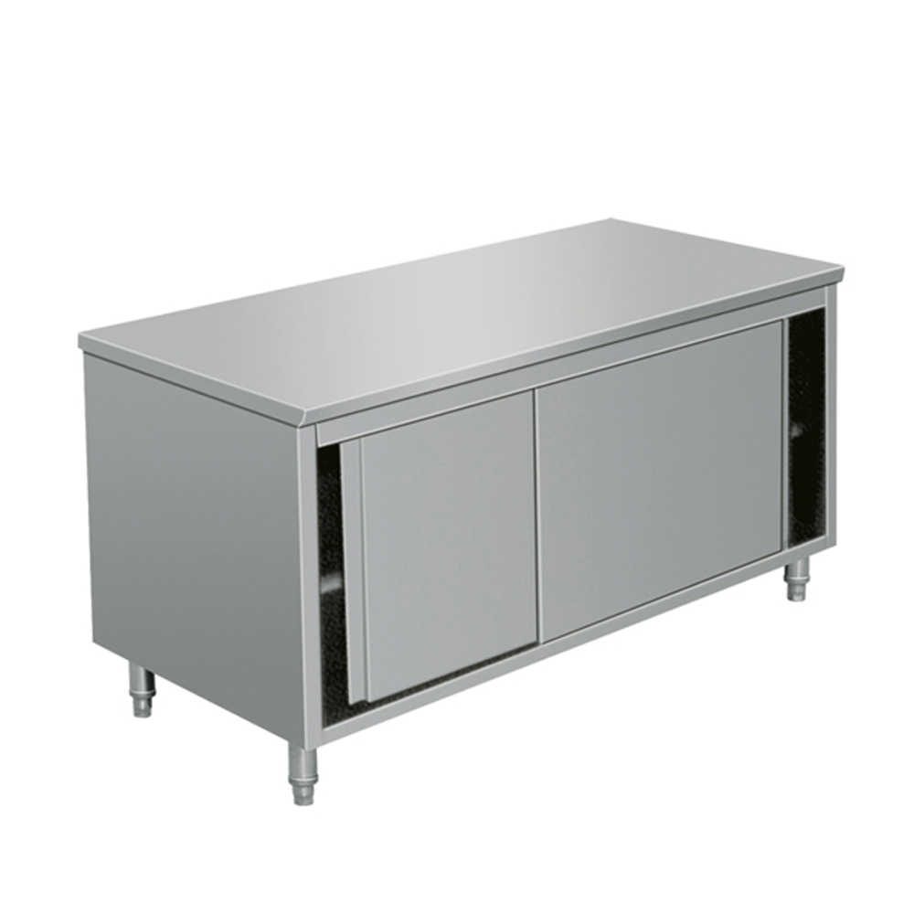 Industrial Kitchen Prep Table: EQ Commercial Stainless Steel Work Prep Table With Cabinet