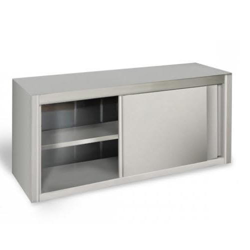 EQ Economy Stainless Steel Sliding Door Dish Storage Wall Cabinet 39 X