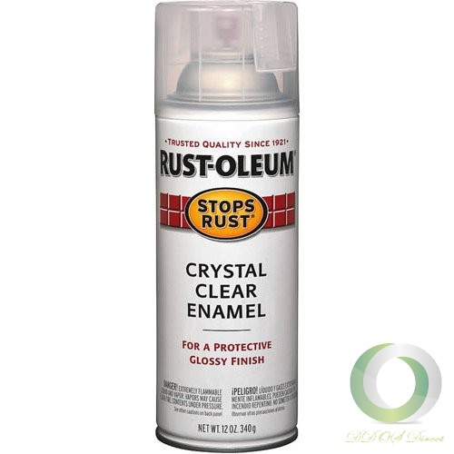 the rust oleum stops rust 12 oz clear enamel spray paint dries in. Black Bedroom Furniture Sets. Home Design Ideas