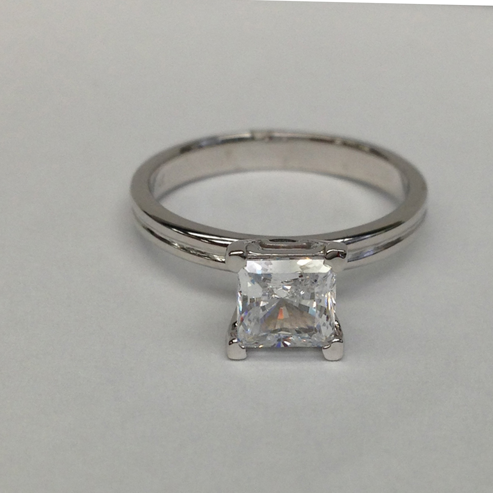 1 2 carat d si1 princess cut solitaire engagement