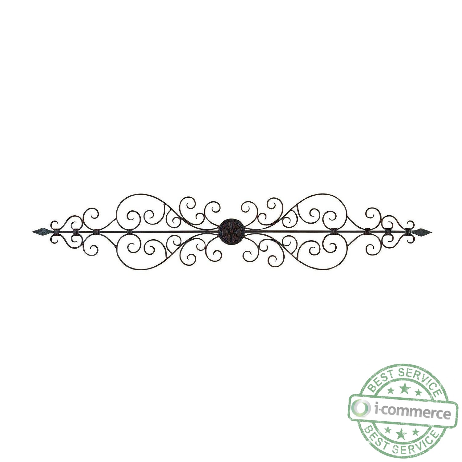 Scroll Design Wall Decor : New benzara in elegant metal scroll wall decor