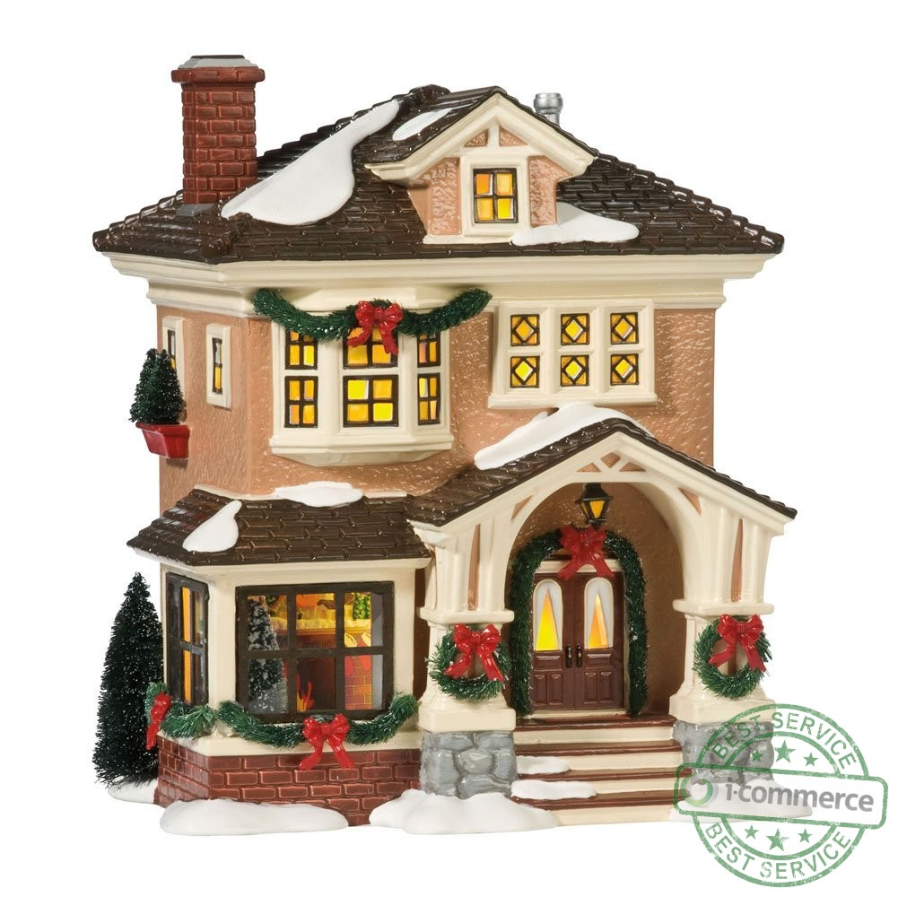 new department 56 original snow village christmas at grandmas lit house ebay. Black Bedroom Furniture Sets. Home Design Ideas