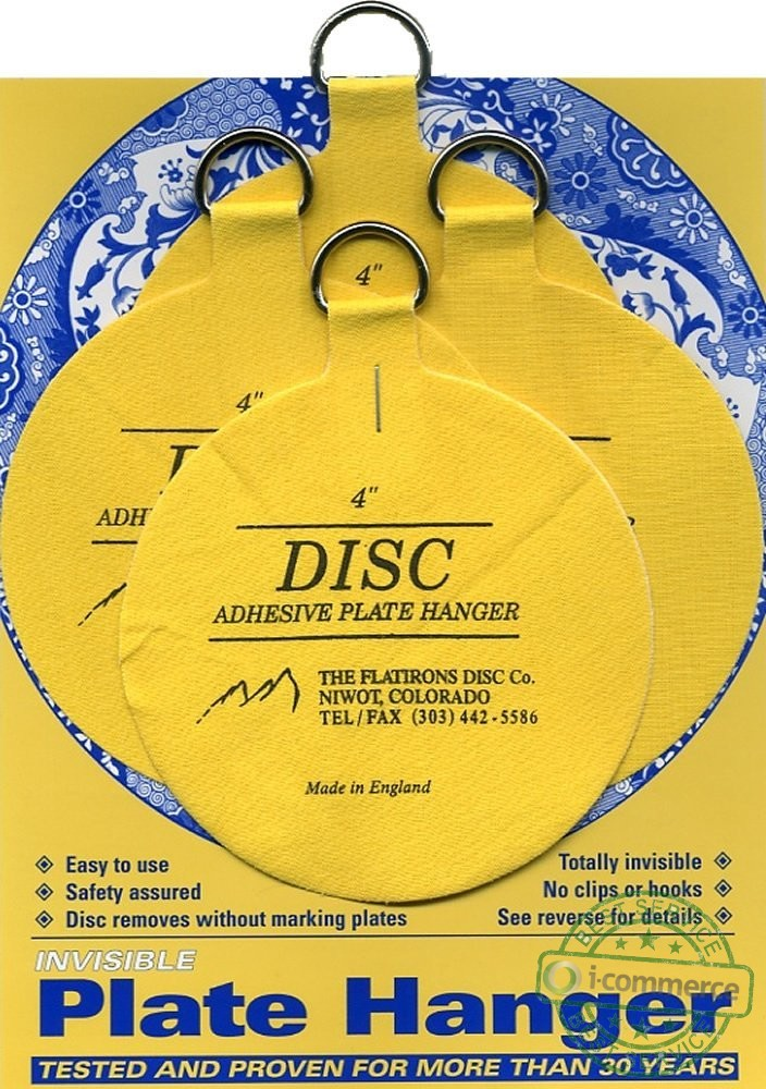 New Invisible English Disc Adhesive Large Plate Hanger Set