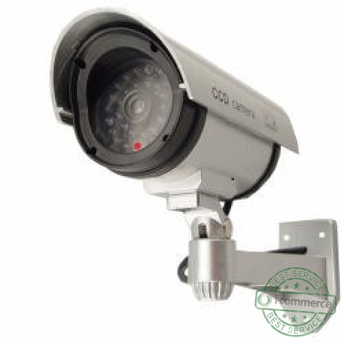 details about outdoor fake dummy security camera w blinking light. Black Bedroom Furniture Sets. Home Design Ideas