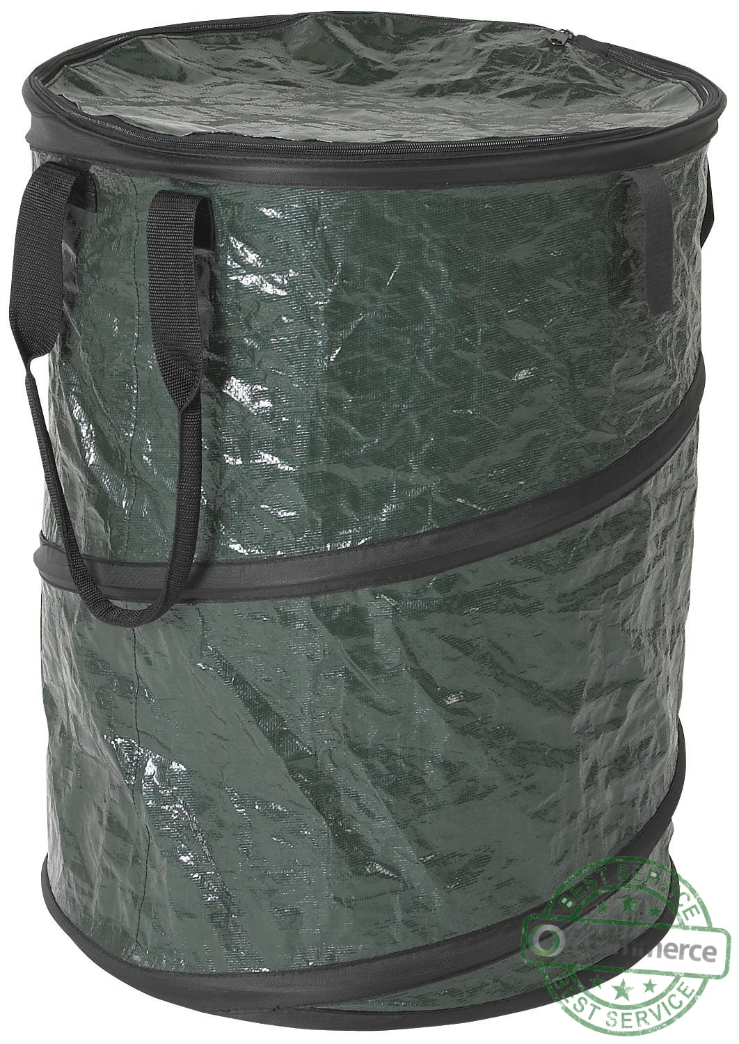 Stansport Collapsible Carry All Green Trash Can Bin Garbage Camping Campfire Ebay