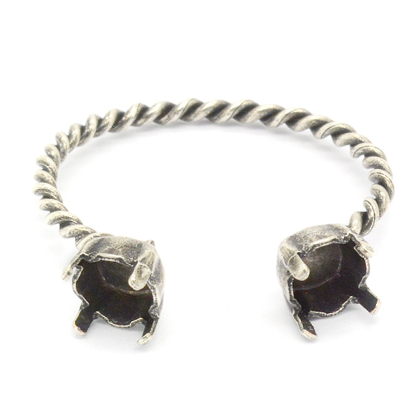 5 Piece 24ss Open Ring Base For SW Crystals. Wholesale