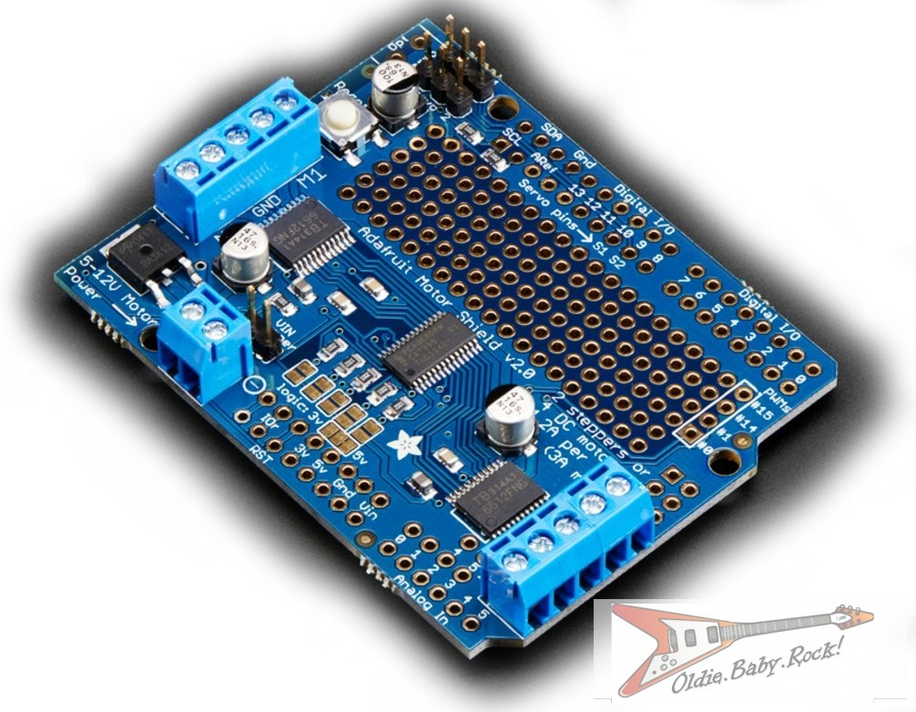 Buy Adafruit Motor Stepper Servo Shield For Arduino V2 3