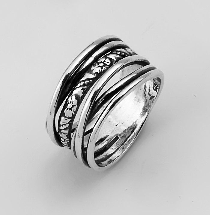 clean lined fashion silver ring sterling silver sterling