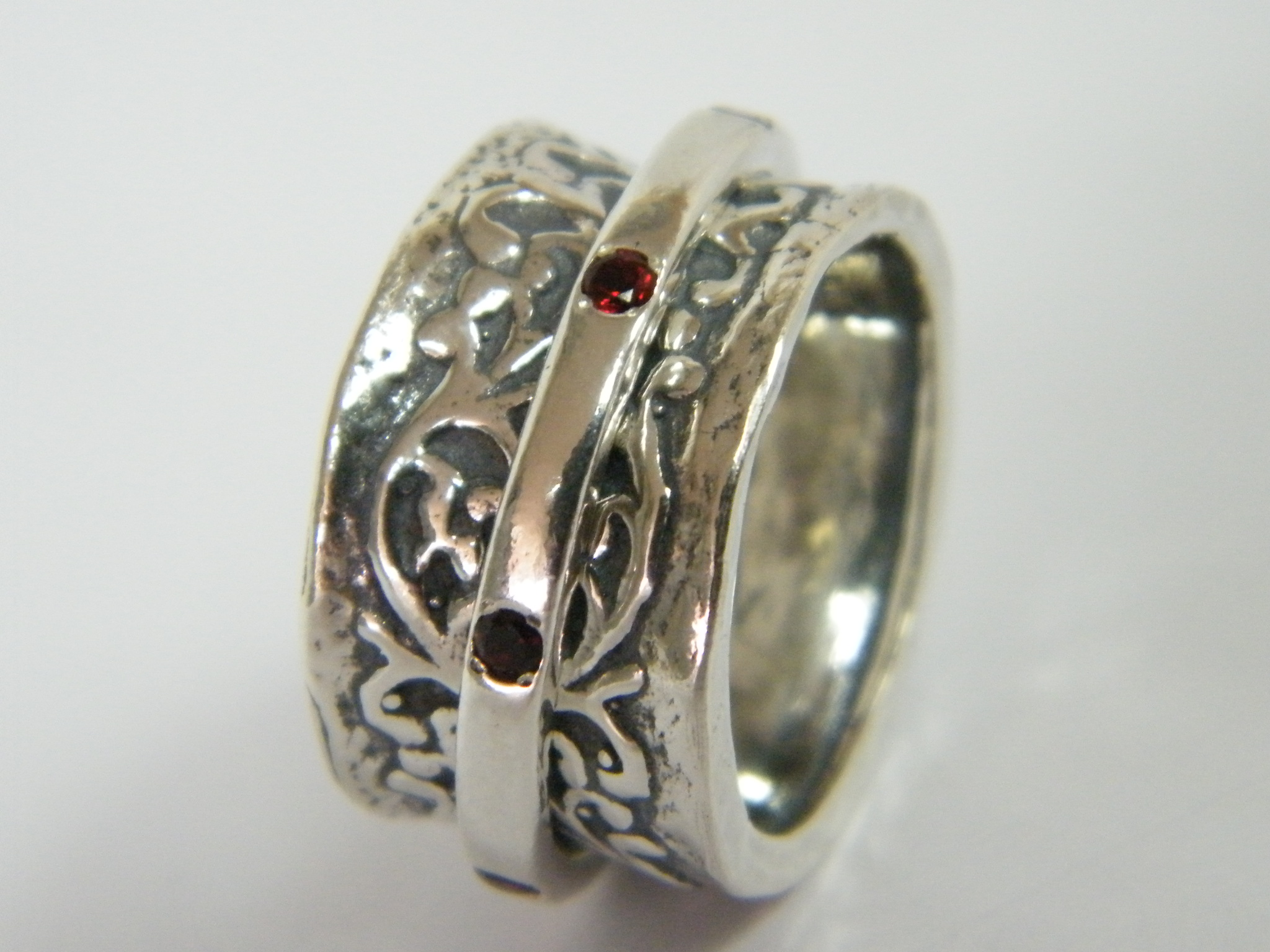 fashion ring sterling silver garnet cz s ebay