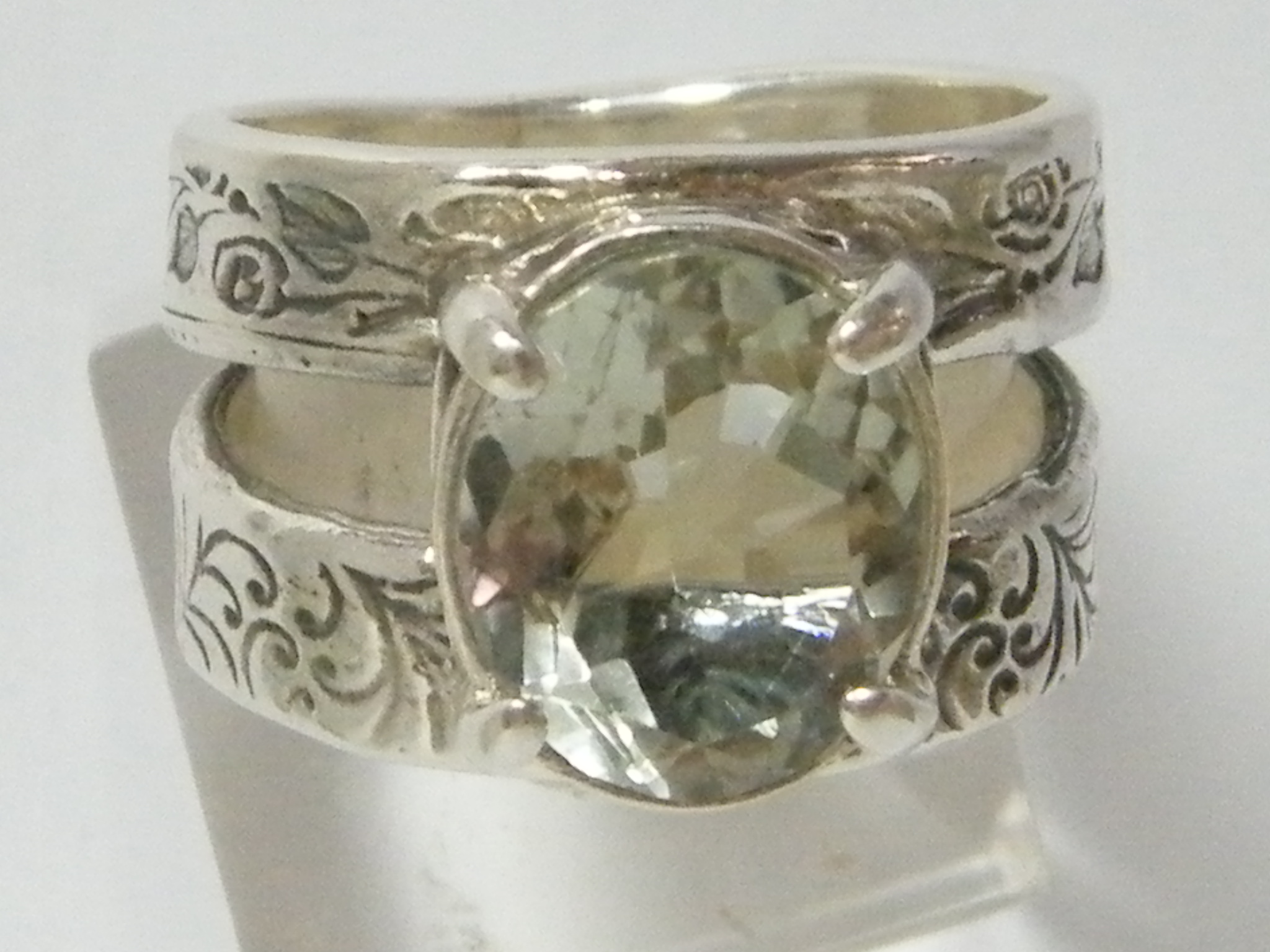 clean lined silver ring shablool 925 sterling
