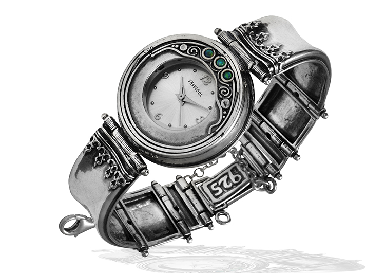 comforting oxidized solid 925 sterling silver watches