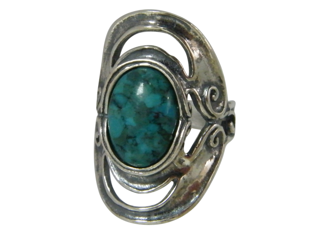 fashion rings sterling silver turquoise oval women s ebay