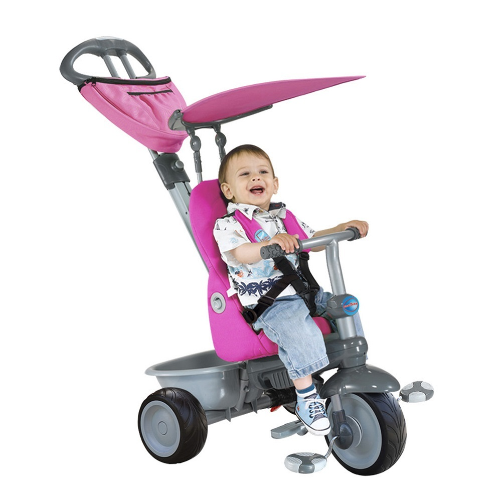 New Smart Trike Pink RECLINER BUTTERFLY 4 in 1 Stroller Kids smarTrike Tricycle | eBay
