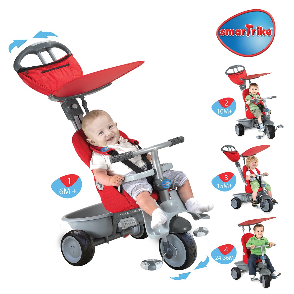 Size: 4-in-1 Deluxe Editio. The Little Tikes 4-in-1 Deluxe Edition Trike lets your child ride in style. This Baby Tikes product has been designed specifically to keep your baby safe and happy. Little Tikes 4-in-1 Deluxe Edition Trike, Neon Blue.