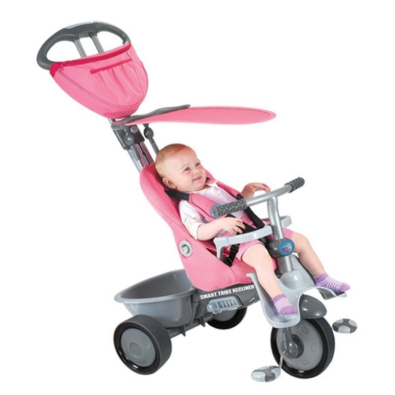 new pink smart trike recliner stroller 4 in 1 smartrike. Black Bedroom Furniture Sets. Home Design Ideas