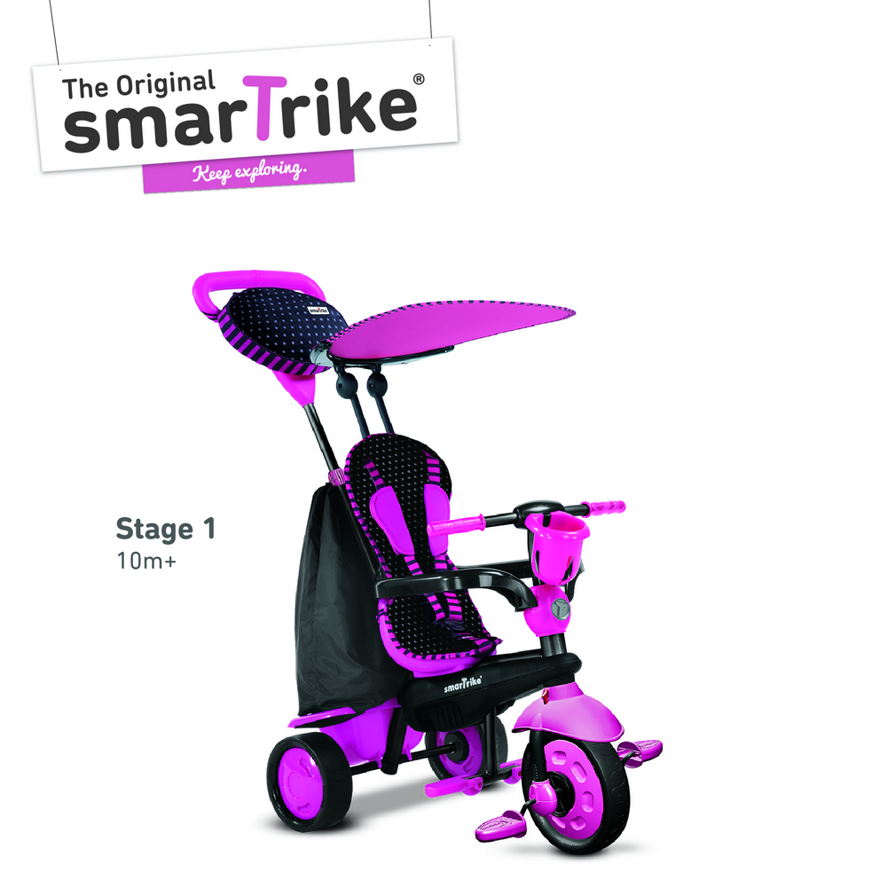 new smart trike spirit 4 in 1 touch steering tricycle bike. Black Bedroom Furniture Sets. Home Design Ideas