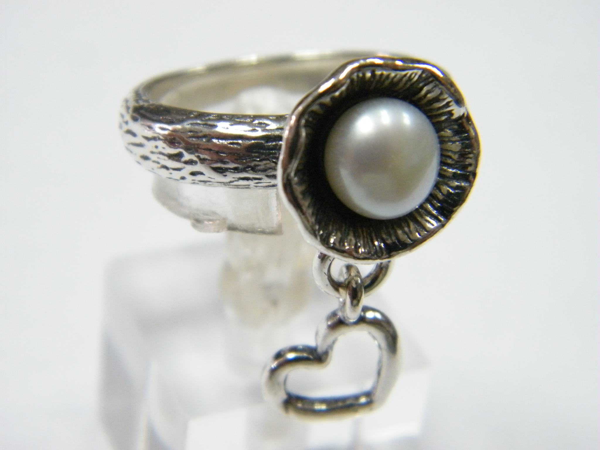 New-SHABLOOL-Ring-Handmade-Jewelry-White-Pearl-925-Sterling-Silver