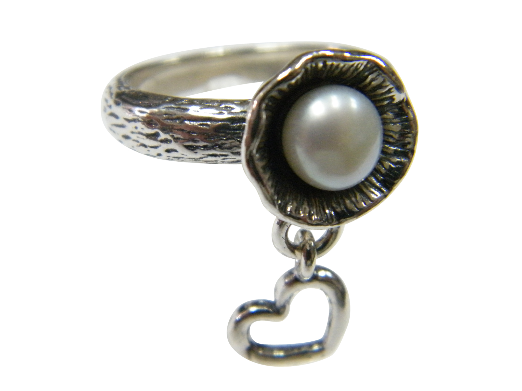 New-SHABLOOL-Ring-Handmade-Jewelry-White-Pearl-925-Sterling-Silver thumbnail 2